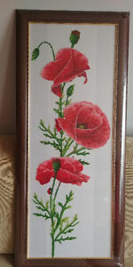 Picture of beads poppy flowers