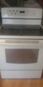 Glass cooktop stove