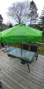 Never Used Bud Light Lime Umbrella