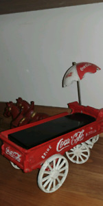 Coca cola cast iron horse n buggy