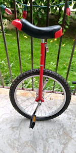 """Red 18"""" Unicycle"""
