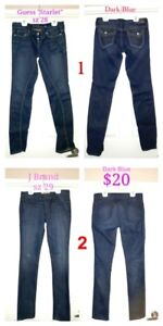 Ladies GUESS, MARCIANO & J BRAND JEANS sz 28-30 CHEAP!