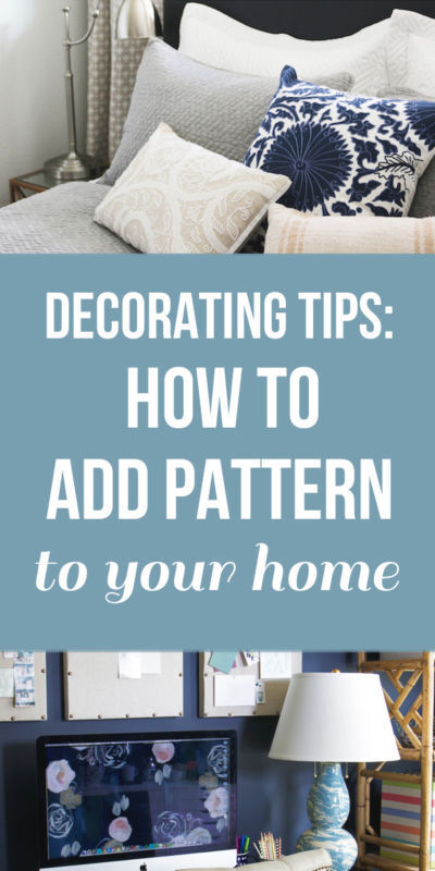 Decorating Tips: How to Add Pattern To Your Home