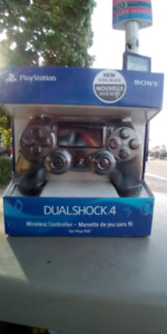 Play Station dual shock 4 steel black wireless controller