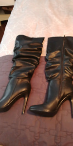 Tall black womans boots