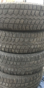 P245 75 16 winter tires studded good condition