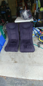 2 BLACK CLOTH VIDEO GAMER LOUNGE CHAIRS - NO SPEAKERS