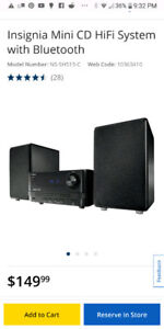 Insignia Mini CD HiFi System with Bluetooth / in box / good gift