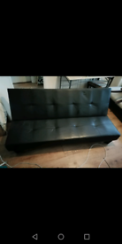 3 Seater Small Double Sofa Bed - Black.