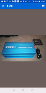 cotek 12v 1000w continuous pure sine wave inverter with remote