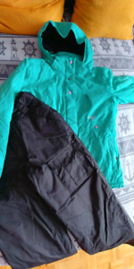 Winter coat and snow pants. Size 12 kids
