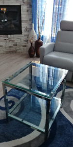 Table de Salon Verre et Chrome