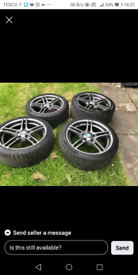 Bmw 313s set of 18 inch staggered rears