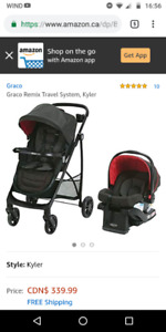 Graco Remix Travel System (car seat with base + stroller)
