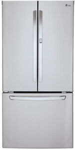 "LG LFCS25663S 33"" French Door Refrigerator With Ice Maker< Door"