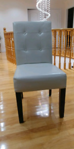 4 Dining Chairs White Faux Leather