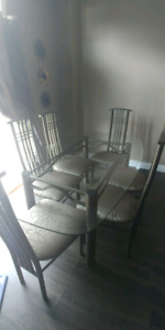 """""""ASHLEY"""" DINING SET WITH 6 CHAIRS"""