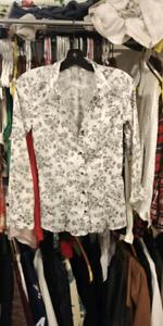 H&M Floral button up blouse
