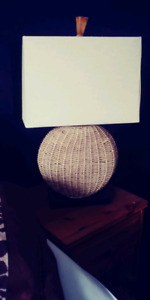 Gorgeous wicker table lamp $40.00