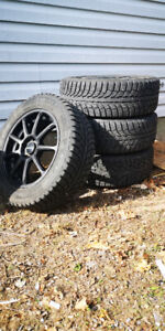 Winter Tires 225/55/R17 on 5X114.3 Aftermarket Rims
