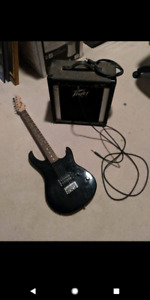 Peavy guitar and amp