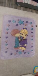 Beautiful velour baby blanket in excellent condition