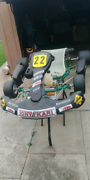 GO KART Tony kart Yamaha KT100S With Clutch Installed Dallas Hume Area Preview