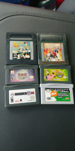 Gameboy games and case