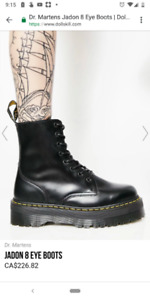 Brand New Dr. Martens Jadon 8 Eye Boots with tags