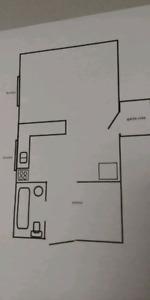 Large bachelor apartment
