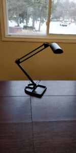 LIVAL industrial desk / work lamp with cast iron base, black
