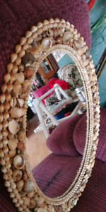 24 INCH LONG×18 WIDE OVAL SEASHELL MIRROR 50.00