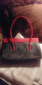 BRAND NEW*CLEO & PATEK PARIS, Red and Black Leather Purse