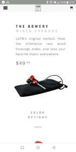 NEW LSTN Sound Co Earbuds