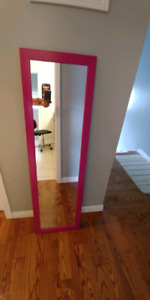 Bright pink mirror hang up or lean