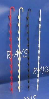 Hanging Chip Snack Display Rack - 1 Round Strip 12 Clip Choice Of Color