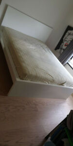 Doublesize bed frame and mattress From Ikea(pickup after June27)