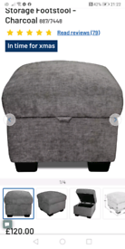 Charcoal storage Foot Stool only £60. Real Bargains Clearance Outlet L