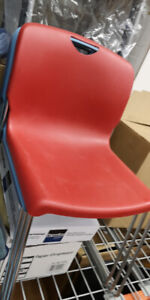 Stacking, Desk Chairs- Poly- Red,  Robins Egg Blue, Mauve/Purple