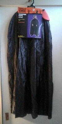Totally Ghoul Boy's Vampire Cape NEW Halloween 45 Inch One Size Dracula - Boy Vampire