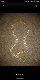 Cuban diamond stainless steel chain