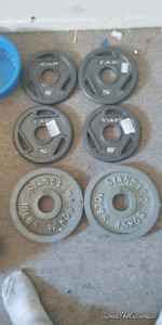 Olympic Weights for sale. Price is FIRM! $1 a pound!