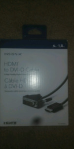 Hdmi to dvi-d cable 6ft