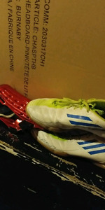 Indoor soccer shoes n shin pads