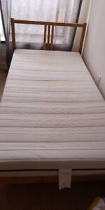 Ikea Single Bed frame with mattress (pick up after June 27)