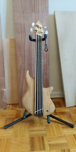 Four String Fretless Solid Body Bass Ukulele