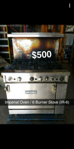 Imperial IR - 6 commercial oven with 6 burner stove