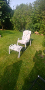 Lawn chairs and stools
