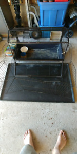Rabbit cage with playpen and accessories