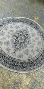 Round polyester area rugs made in Turkey. All brand new.